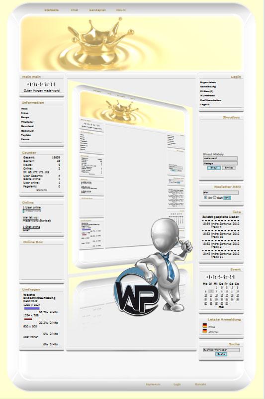 W-P Drop, Fun-Template für das CMS Portal V2