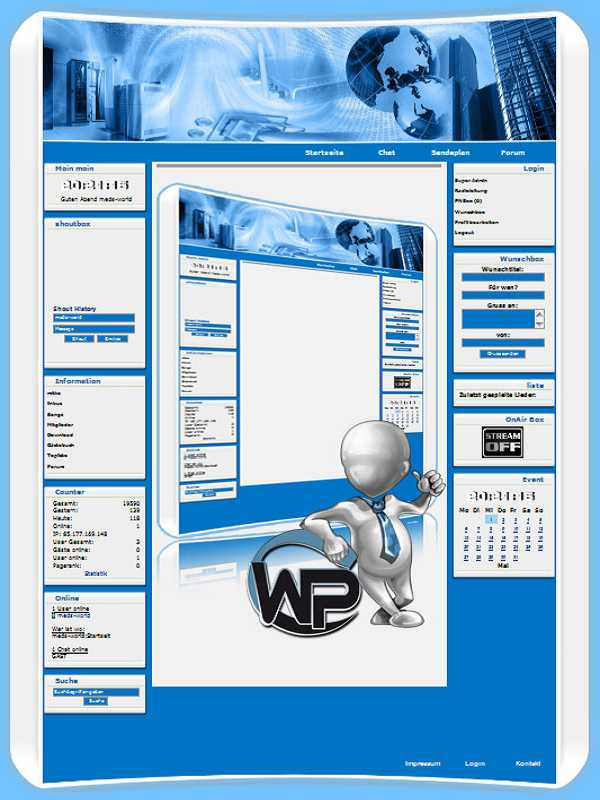 W-P EDV, Business-Template für das CMS Portal V2