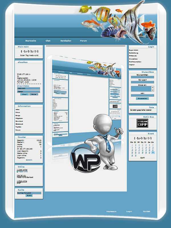 W-P Fische, Tiere-Template für das CMS Portal V2