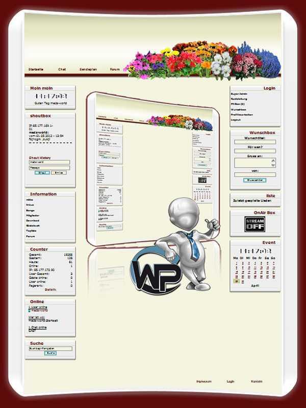 W-P Flower, Natur-Template für das CMS Portal V2