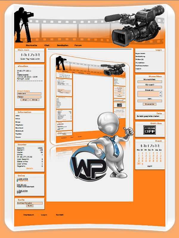 W-P Foto, Business-Template für das CMS Portal V2