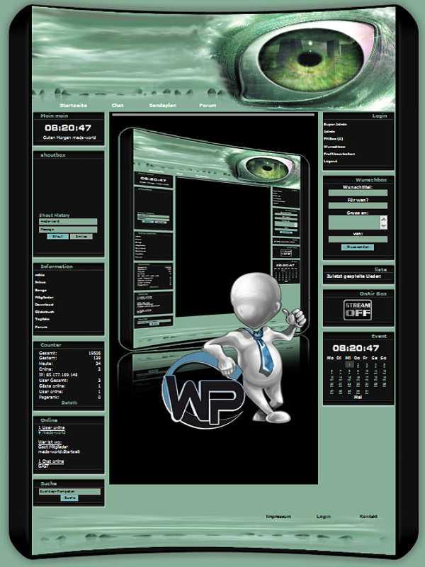 W-P Green Eye, SiFi-Template für das CMS Portal V2