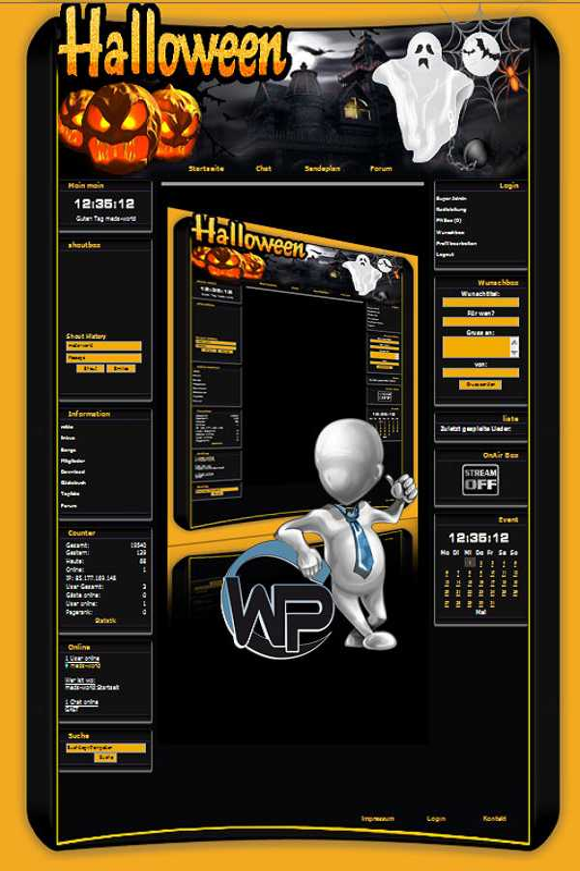 W-P Halloween, Feiertage-Template für das CMS Portal V2