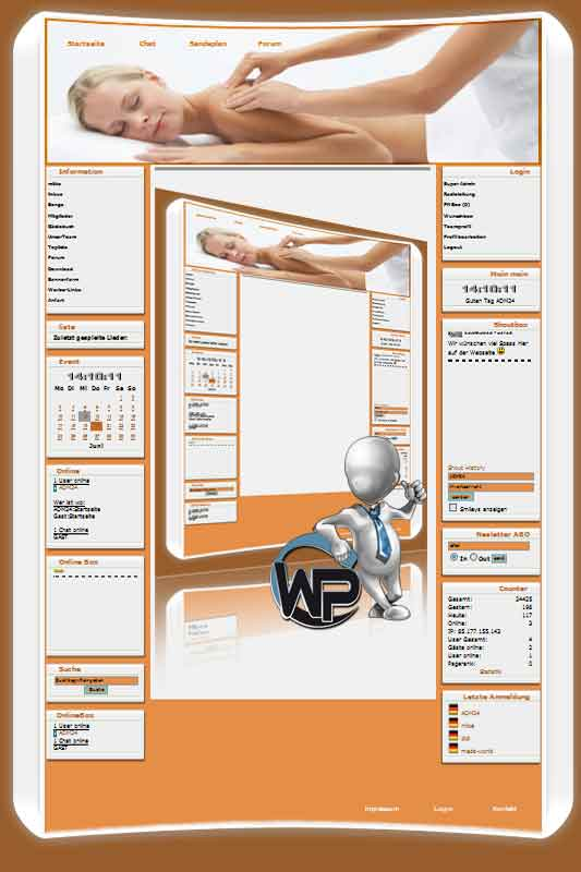 W-P Massage, Business-Template für das CMS Portal V2