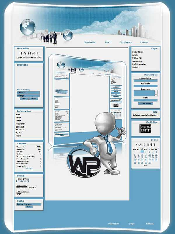 W-P Officeline, Business-Template für das CMS Portal V2